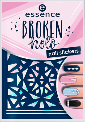 essence broken holo nail stickers 12